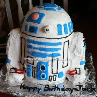 Homemade R2D2 Birthday Cake