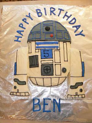 Homemade R2D2 Birthday Cake