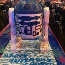 Homemade R2D2 Star Wars Birthday Cake