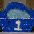Homemade Race Car Birthday Cake