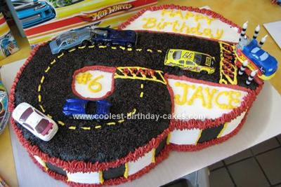 Enjoyable Coolest Race Car Track Birthday Cake Funny Birthday Cards Online Elaedamsfinfo