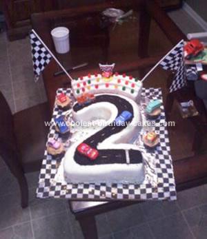 Homemade Race Track Birthday Cake