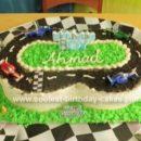 Homemade  Race Track Cake 1st Birthday Cake