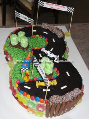 Homemade Race Track Cake
