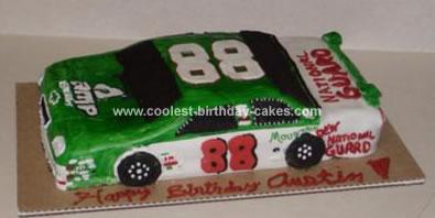 Homemade Racecar Birthday Cake
