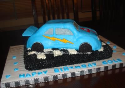 Homemade Racecar Birthday Cake