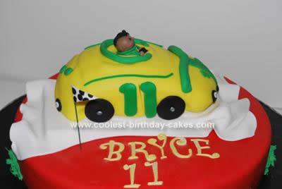 Homemade Racecar Cake