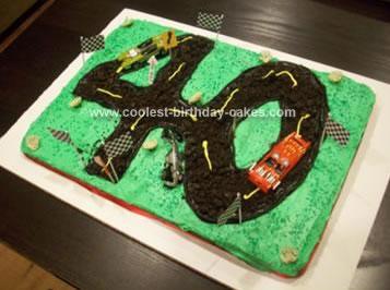 Homemade Racecar Track Cake