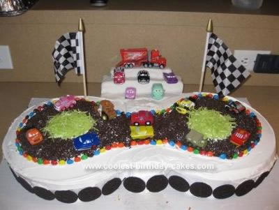 Homemade Racetrack Birthday Cake