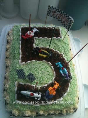 Homemade Racetrack Cake