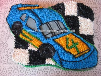 Homemade Racing Car Birthday Cake