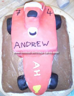 Homemade Race Car Cake