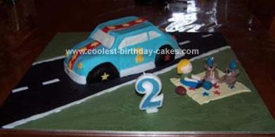 Homemade Racing Car Cake