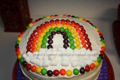 Homemade Rainbow Birthday Cake