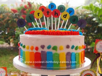 Awe Inspiring Coolest Rainbow Birthday Cake Funny Birthday Cards Online Elaedamsfinfo