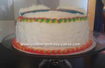 Homemade Rainbow Birthday Cake