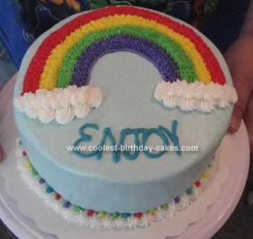 Coolest Homemade Rainbow Cakes
