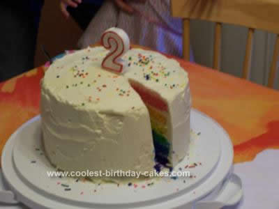Homemade Rainbow Cake