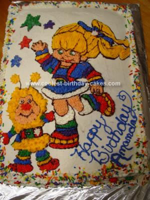 Homemade Rainbowbrite Cake
