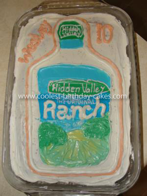 Homemade Ranch Bottle Cake