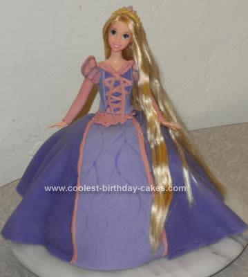 Homemade Rapunzel Birthday Cake