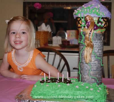 Swell Coolest Rapunzel Birthday Cake Design Birthday Cards Printable Inklcafe Filternl