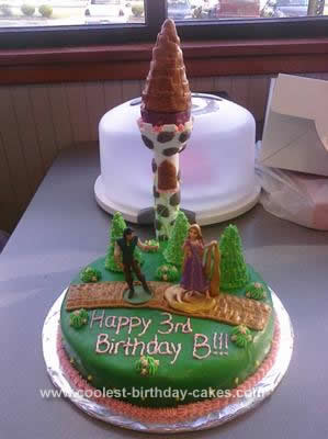 Homemade Rapunzel Birthday Cake Design
