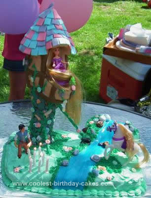 Homemade Rapunzel Birthday Cake Design
