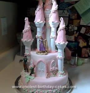 Homemade Rapunzel Castle Birthday Cake