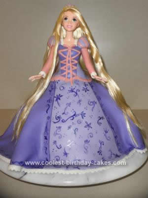 Homemade Rapunzel from Tangled Cake