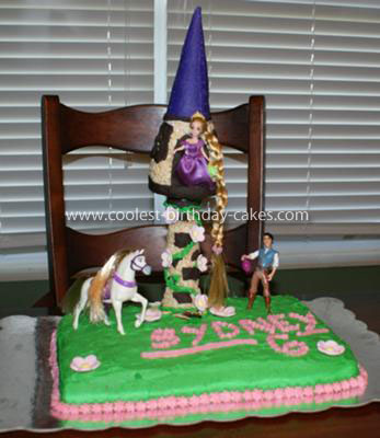Fantastic Coolest Rapunzel Tangled Birthday Cake Funny Birthday Cards Online Overcheapnameinfo