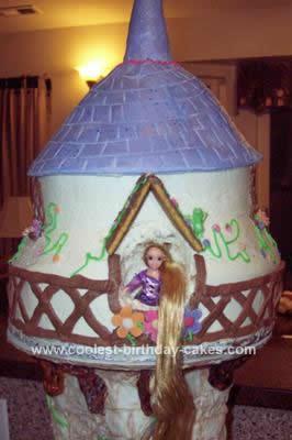 Homemade Rapunzel Tangled Cake