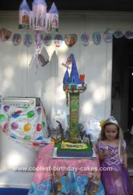 Homemade Rapunzel Tangled Tower Birthday Cake