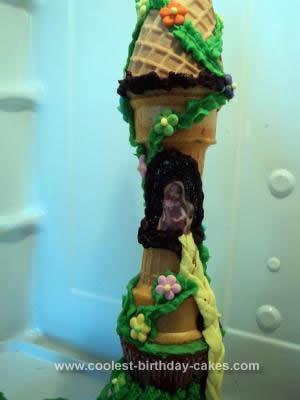 Homemade Rapunzel Tower Cake
