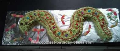 Homemade Rattle Snake Cake