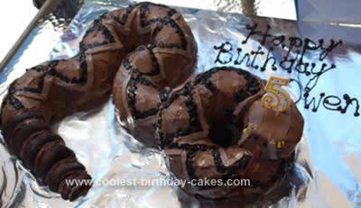 Homemade Rattlesnake Birthday Cake