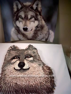 Homemade Realistic Wolf Cake