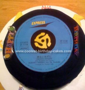 Homemade Record Birthday Cake