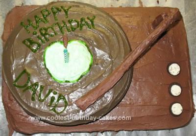 Homemade Record Birthday Cake