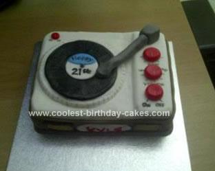 Homemade Record Player Cake