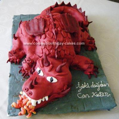 Amazing Coolest Red Dragon 5Th Birthday Cake Funny Birthday Cards Online Alyptdamsfinfo