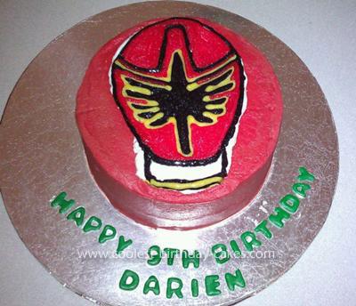 Homemade Red Mystic Power Ranger Birthday Cake