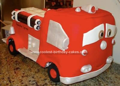 Red the Fire Truck from Cars Cake