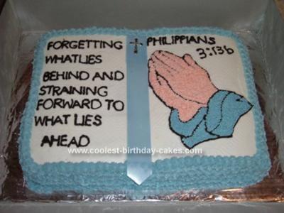 Homemade Religious Cake