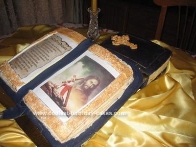 Homemade Religious Christmas Cake