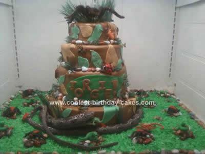 Homemade Reptile Birthday Cake Idea