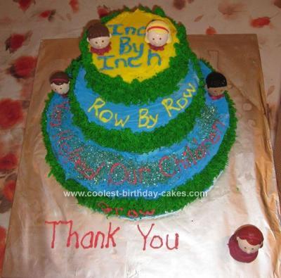 Homemade Retirement Garden Cake for Teacher