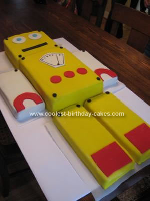 Homemade Robot Cake