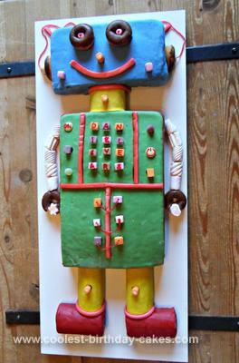 Homemade Robot Cake