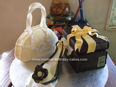 Homemade  Rocawear Bag and Shoe Cake
